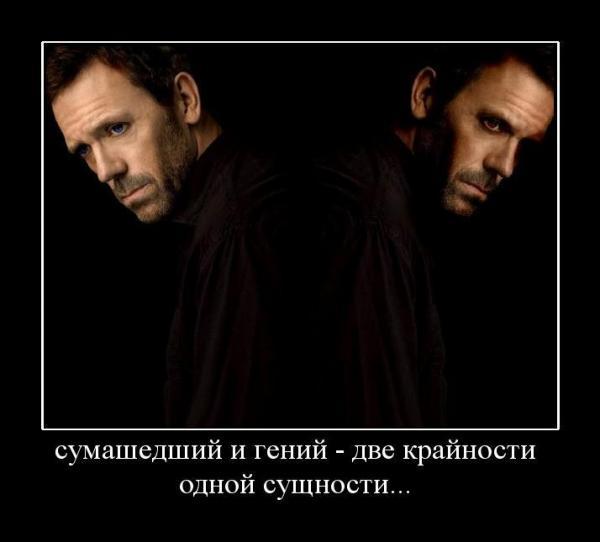 Демотиваторы.ру сумашедший и гений - две крайности одной сущ…